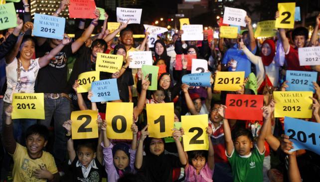 MALASIA. La despedida de 2011 (AP).