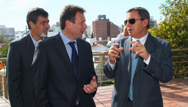 Intercambio. Ramiro Veiga, Roque Lenti y Rubén Beccacece cuentan sus experiencias (Ramiro Pereyra/LaVoz).