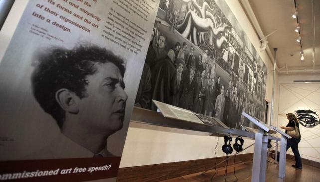 Recuperan mural de siqueiros en los angeles la voz del for El mural de siqueiros pelicula
