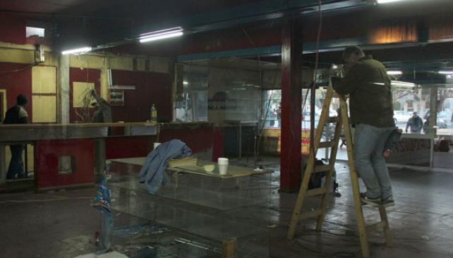 En obras. Comenzó la remodelación de la actual terminal de buses (La Voz).