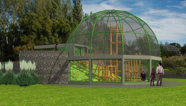 El zoo Bubalcó envió una ilustración por computadora del lugar donde será alojado el primate (Gentileza Bubalcó).