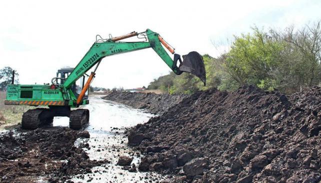 CÓRDOBA. Obras hídricas (Gentileza Municipalidad de Arroyito).