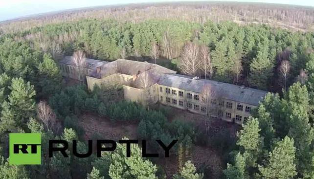Alemania: un dron muestra una base militar soviética