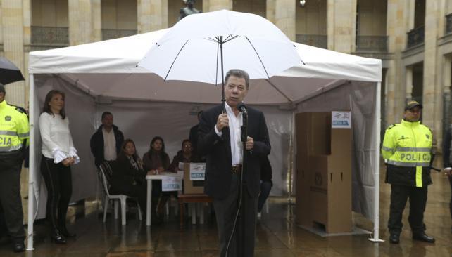 Presidente Santos y triunfo del No en Colombia: