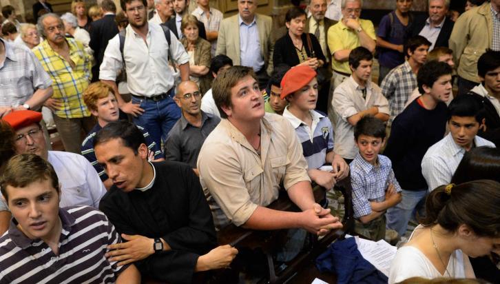 BUENOS AIRES. Tensión en una ceremonia ecuménica (DyN).