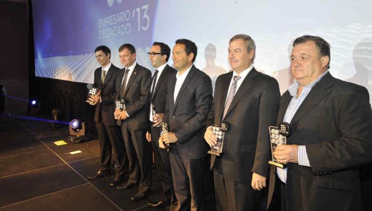 LOS PREMIADOS. De izquierda a derecha: Alladio, Felippa, Frascaroli, Cid, Colombero, Bongiovanni fueron los premiados (La Voz / Antonio Carrizo).