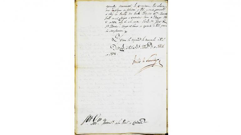 Gobierno, 1817-1842, tomo 1, folios 27 y 27 v. 203. AHPC. (Agencia Córdoba Cultura)