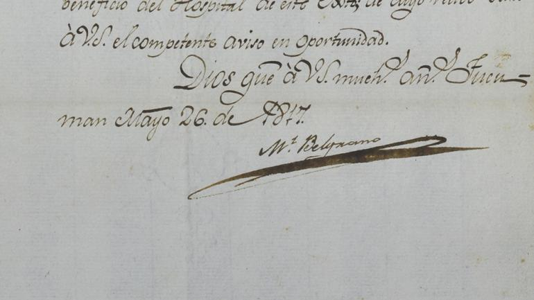Cartas de Manuel Belgrano Archivo Histórico de la Provincia de Córdoba / Foto de la Agencia Córdoba Cultura.