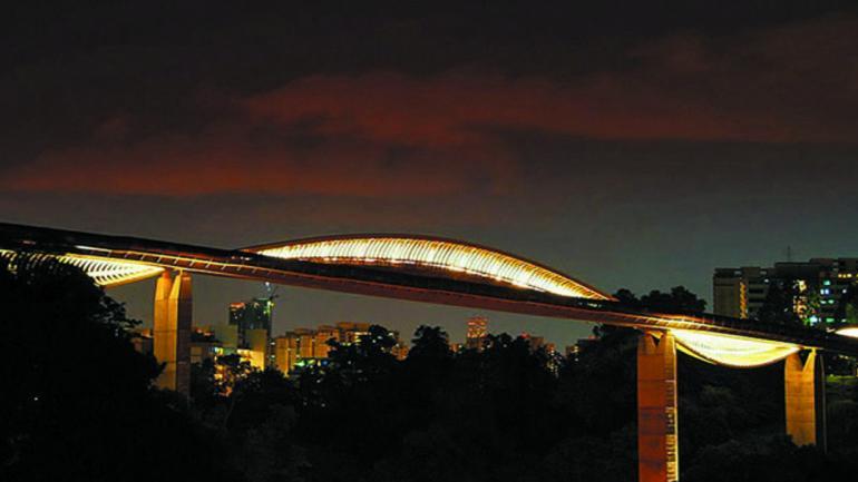 HENDERSON WAVE. En Singapur, se levanta el puente peatonal que simula ser una gran ola. (Mundo Maipú)