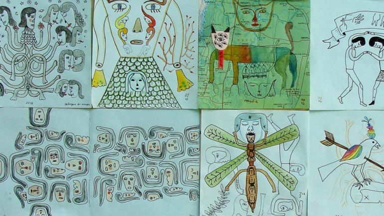 Cuadro Pensar un mapa de Juan Martin Juares / Foto de Agencia Córdoba Cultura.