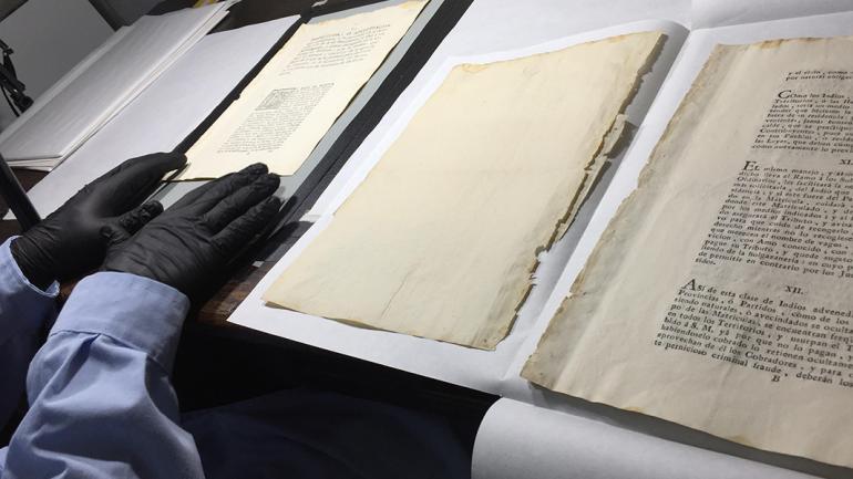La digitalización preserva el papel original / Agencia Córdoba Cultura.