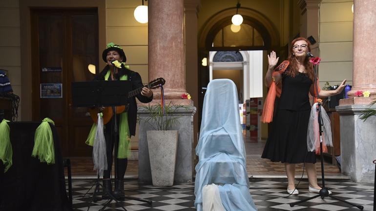 Las intérpretes de la poeta / Foto de Agencia Córdoba Cultura.