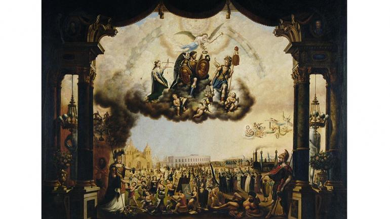 Obra de Gonzaga Cony de 1870, Llegada del ferrocarril a Córdoba. (Agencia Córdoba Cultura)
