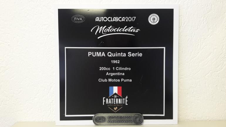 La moto Puma logró una importante mención en su participación en el Autoclásica. (Mundo Maipú)