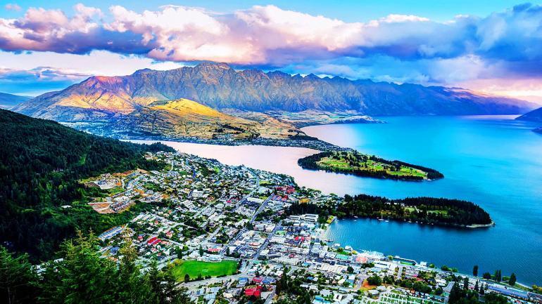 NUEVA ZELANDA. La ciudad de los Kiwi´s, bella por sus paisajes imperdibles y gran escenario del film El Señor de los Anillos. (Interturis)