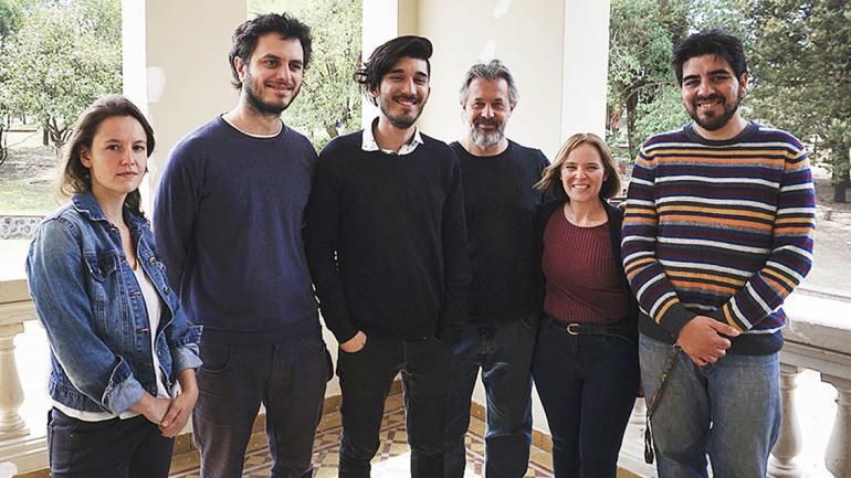 Paulina Muratore, Alejandro Imondi, Ignacio Lillini, Guillermo Casas, Romina Svary y Juan Manuel Costa. (Agencia Córdoba Cultura)