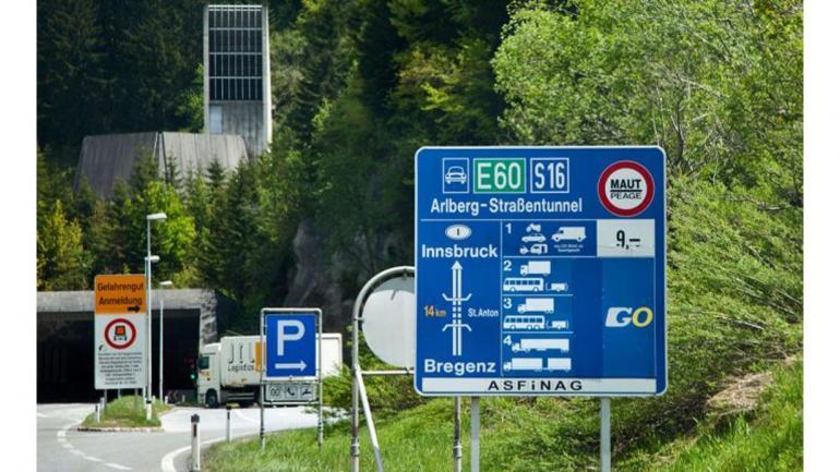 TÚNEL DE ARLBERG. En Austria, mide 13,97 kilómetros y cuenta con el monitoreo de 40 cámaras. (Mundo Maipú)