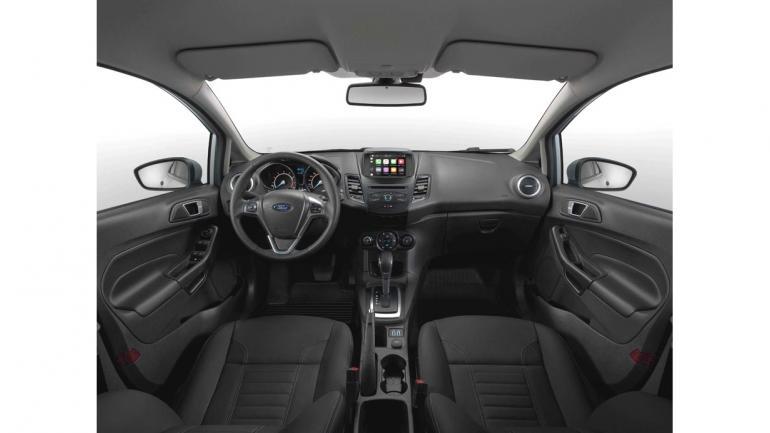 INTERIOR. En el New Fiesta se ha incorporado el sistema de conectividad Sync 3, que está acompañado por una pantalla táctil de 6,5 pulgadas. (Mundo Maipú)