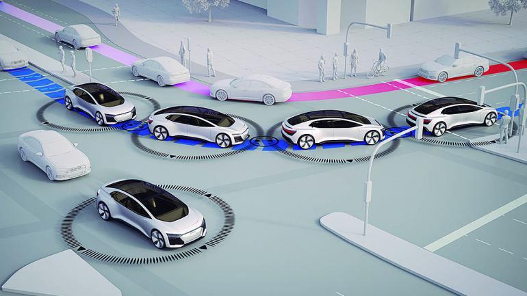 Los tiempos de viaje se reducen notablemente solo con un número creciente de autos autónomos. (Mundo Maipú)