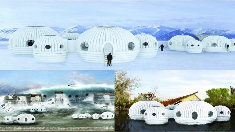 Además de ser transportables, confortables y resistentes, estas casas inflables las convierten en ejemplo de sustentabilidad. (Grupo Edisur)