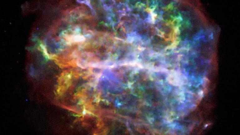 RAYOS X. Una supernova tomada por el telescopio Chandra, de la Nasa, que captura imágenes en rayos X. (AP)