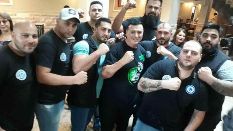 Controladores de seguridad, con Mauricio Saillén y Mario Cupertino.