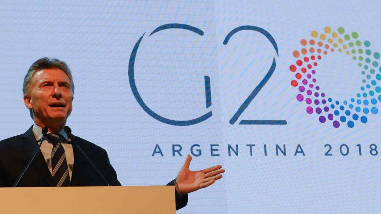 MACRI. Presentó los lineamientos de la presidencia argentina del G-20 (Presidencia de la Nación).