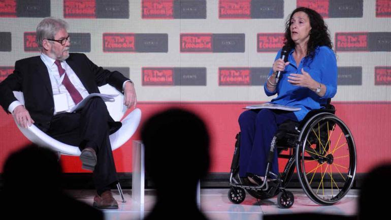 MICHETTI. La vicepresidenta en el simposio (Federico López Claro/Corresponsalía).
