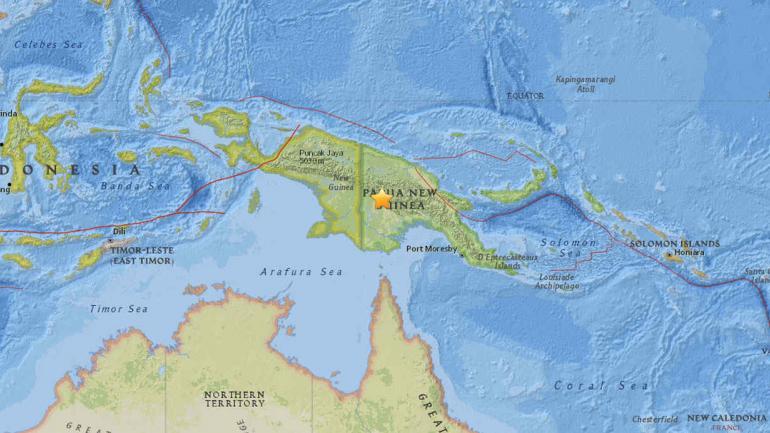 ZONA. Del sismo (Captura/US Geological Survey)