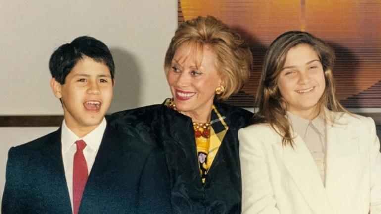 Con Felipe y Marcela. En 2002, Herrera de Noble estuvo presa por una falsa denuncia sobre la adopción de sus hijos. Los persiguieron hasta 2011.