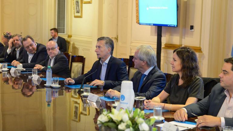 MACRI. Encabezó la reunión de Gabinete (Presidencia).