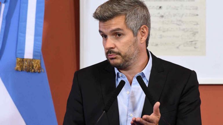 PEÑA. En conferencia de prensa (Télam/Gustavo Amarelle).