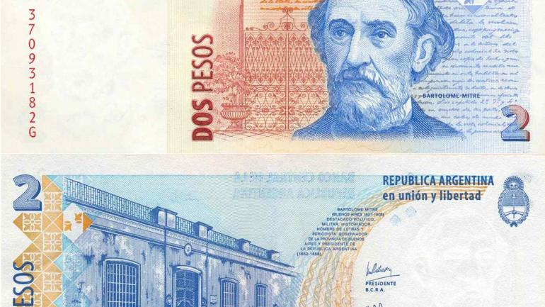 BILLETE. De dos pesos (Gentileza BCRA/Flickr).