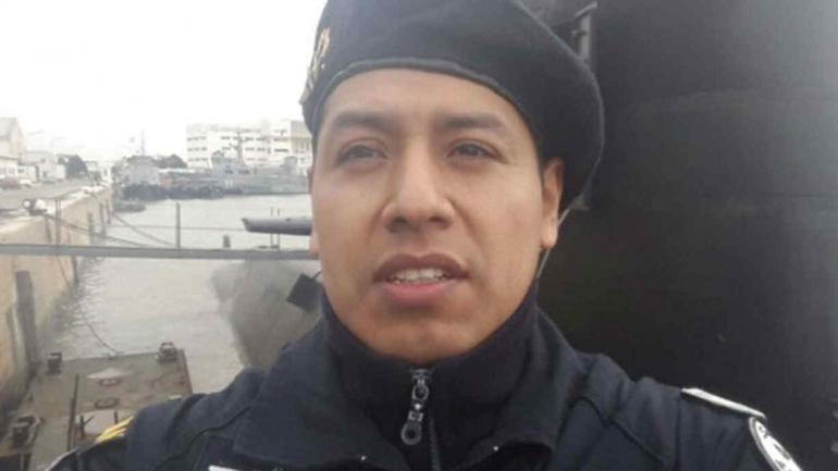 Mario Toconás, uno de los 44 tripulantes del ARA San Juan que acaba de ser papá (Ruth Gómez)
