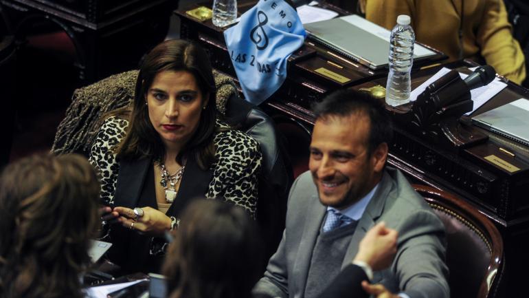 Los cordobeses Soledad Carrizo y Diego Mestre, votos en contra.