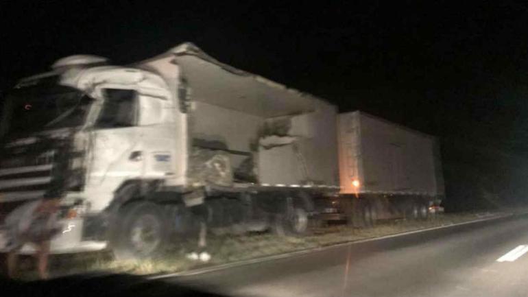 Así quedó el camión involucrado en el siniestro (La Voz).