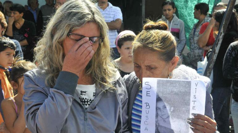 Alicia, durante la búsqueda de su hija en 2012. (La Voz / archivo)