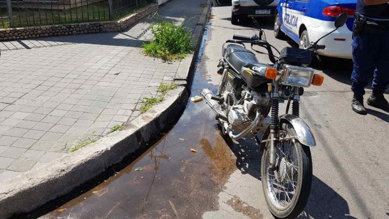 MOTO. En Río Cuarto (Policía de Córdoba).