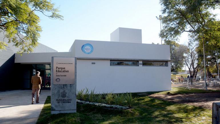 La fachada del Parque Educativo Nido Sureste, financiado por la Nación.