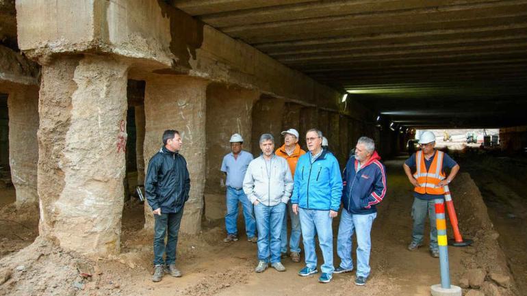 SCHIARETTI. En la zona de obra (Gobierno de Córdoba).