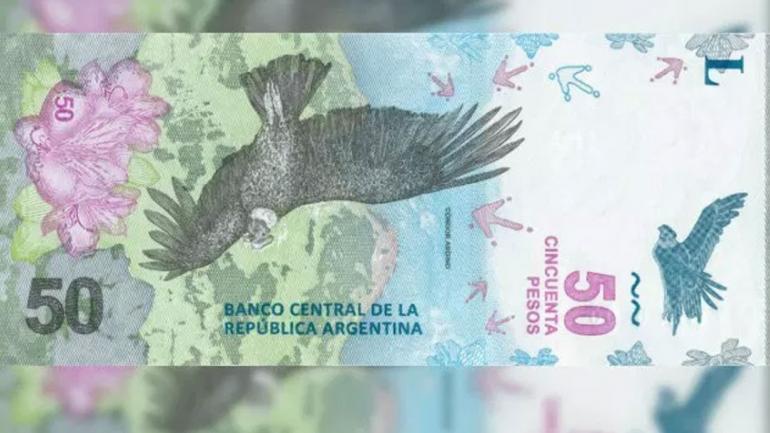 NUEVO BILLETE. Su diseño tiene un cóndor y la cordillera de los Andes. Coexistirá con los otros dos billetes.