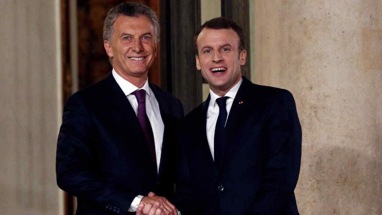 MACRI. Y Macron, en Francia (AP/Thibault Camus).