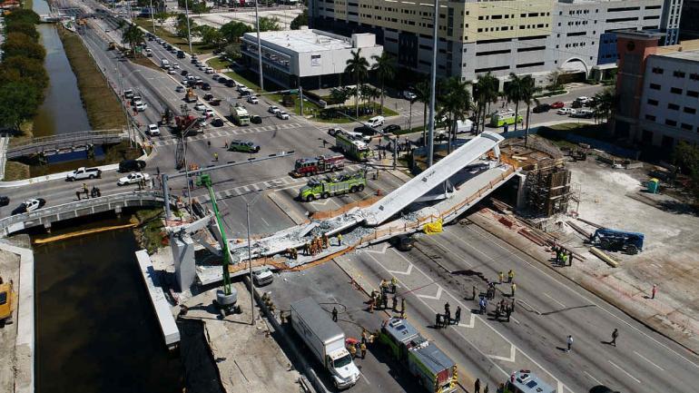 PUENTE. En la imagen de DroneBase (AP).