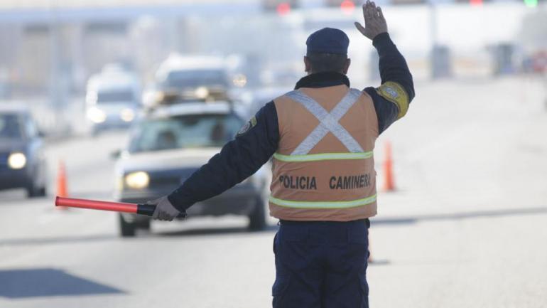 POLICÍA CAMINERA. Registra multas sin pagar, según los registros de la Municipalidad (Darío Galiano/Archivo).