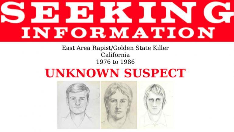 """IDENTIKIT. Del violador conocido como """"East Area Rapist"""" y """"Golden State Killer"""", desde 1976 hasta 1986 (FBI vía AP)."""