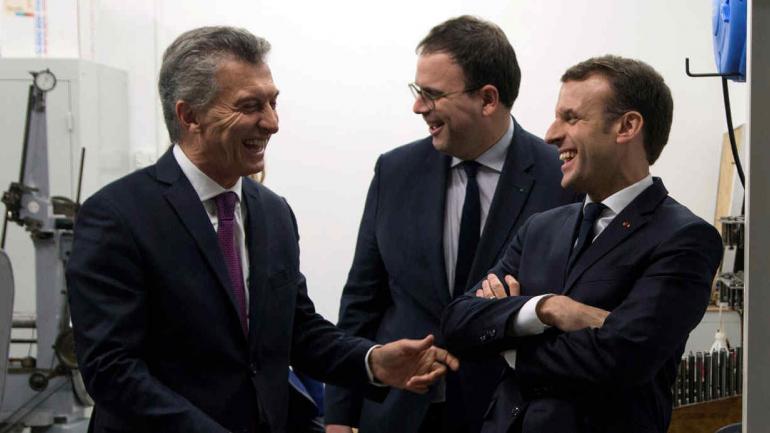 MACRI. Y Macron, en Francia (AP/Thibault Camus, Pool).