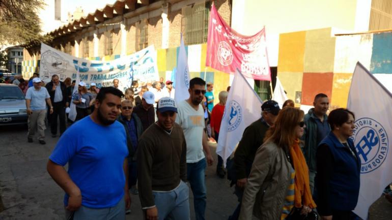 CGT. El inicio de la marcha (Pedro Castillo/La Voz).