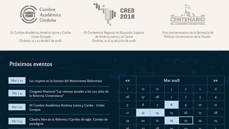Agenda web. Todos los eventos de la Reforma, en un sitio digital.