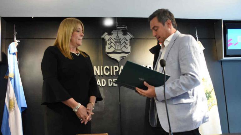 CECILIA ARO. Asumió en Gobierno (Prensa Municipal).