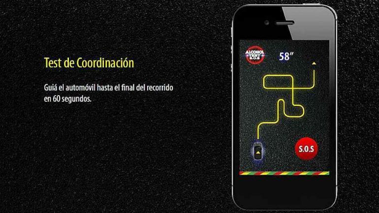 COORDINACIÓN. El conductor debe guiar el automóvil hasta el final del recorrido en 60 segundos. Si no consigue hacerlo, señal de que la coordinación está fallando.